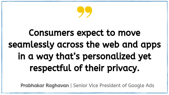Quote from Google Marketing Live 2019