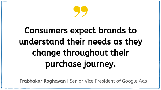 Quote from Google Marketing Live 2019, Prabhakar Raghavan