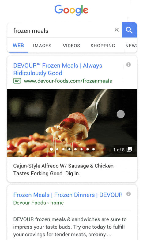 Gallery Ad Example - Devour Meals