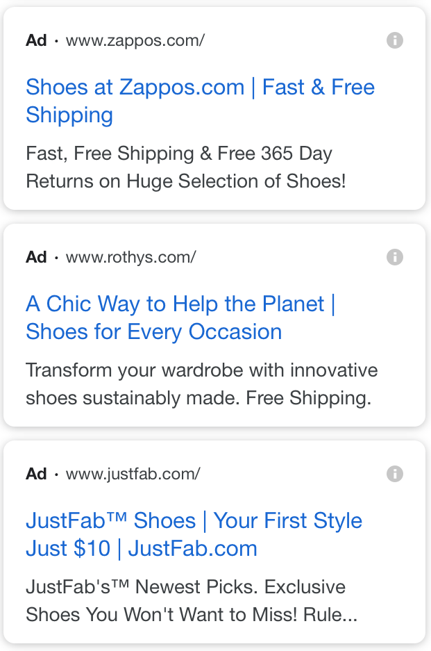 paid ad results on new mobile SERP