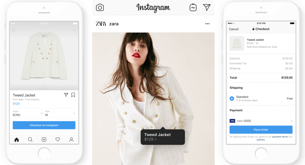 Instagram Checkout Process