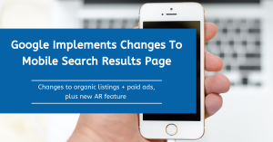 Google Implements Changes To Mobile Search Results Page