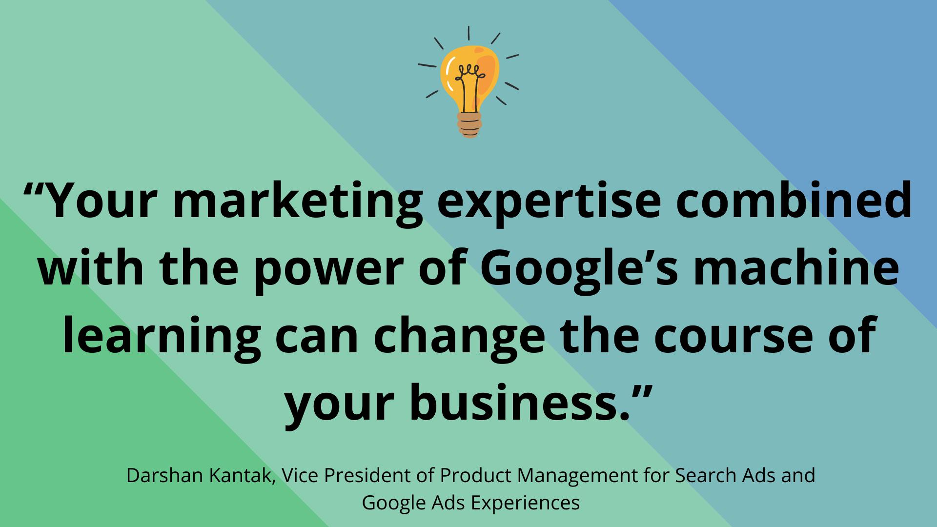 Google Marketing Livestream 2021 quote