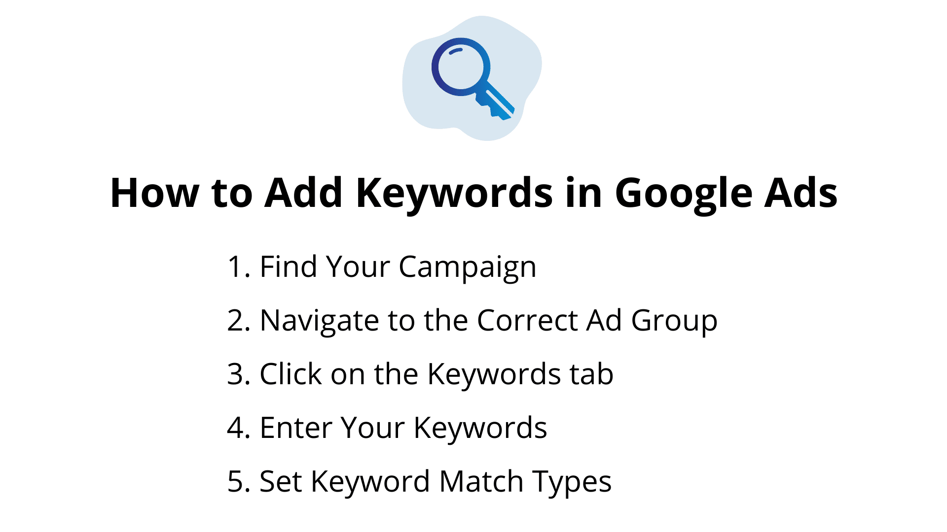 How to Add Keywords in Google Ads
